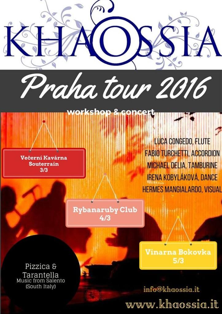 Khaossia Ethno Ensemble Salentina - Praha Tour 2016
